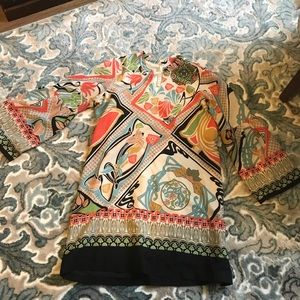 Floral pull over tunic